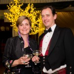 picture by fraser band 07984 163 256 fraserband.co.uk  2016 Perth ball held at Fingask Castle, Perthshire.  Iona and Benedict Lawson.