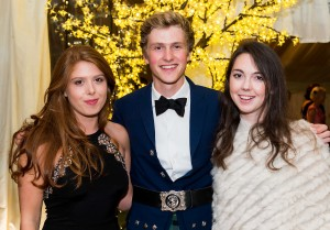 picture by fraser band 07984 163 256 fraserband.co.uk  2016 Perth ball held at Fingask Castle, Perthshire.  Katie Pangonis, Angus Graham and Elizabeth Hamilton.